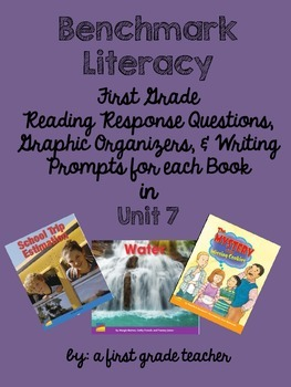 Benchmark Literacy Comprehension Worksheets for 1st Grade Unit 7