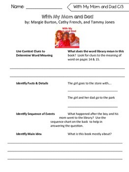 Benchmark Literacy Comprehension Worksheets for 1st Grade Unit 7