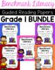 Benchmark Literacy First Grade Comprehension Worksheets GROWING BUNDLE
