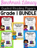 Benchmark Literacy First Grade Comprehension Worksheets BUNDLE
