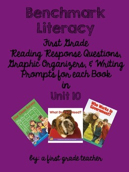 Benchmark Literacy First Grade Comprehension Worksheets Unit 10