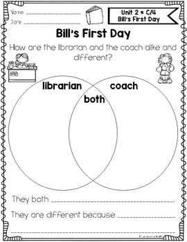Benchmark Literacy First Grade Comprehension Worksheets Unit 2