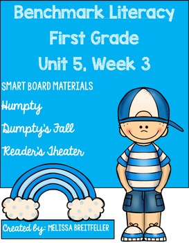 Benchmark Literacy First Grade Unit 5, Week 3