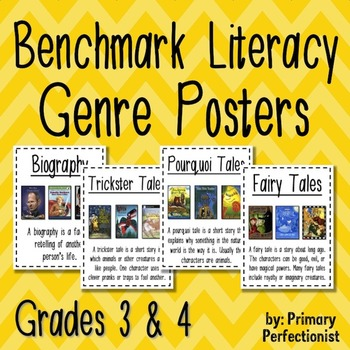Benchmark Literacy Genre Posters - grades 3 and 4