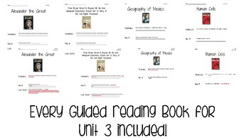 Benchmark Literacy Grade 5 Unit 3 Guided Reading Comprehension Worksheets