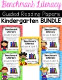 Benchmark Literacy Kindergarten Comprehension Worksheets GROWING BUNDLE