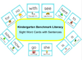 Benchmark Literacy Kindergarten Sight Words with Sentences