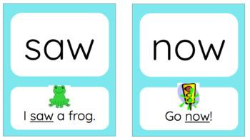 Benchmark Literacy Kindergarten Sight Words with Sentences