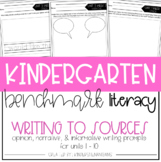 Benchmark Literacy Kindergarten Writing to Sources Prompts