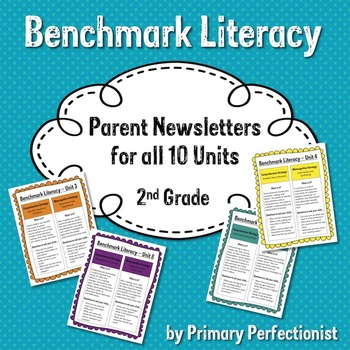 Benchmark Literacy Parent Newsletters for 2nd Grade