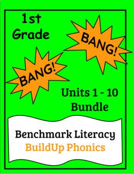 "Benchmark Literacy Phonics 1st Grade ""BANG"" game Units 1-10 Bundle"