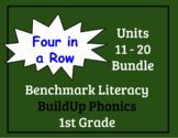 Benchmark Literacy Phonics 1st Grade Four in a Row Units 11-20 Bundle