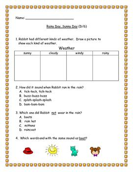 Benchmark Literacy: Rainy Day, Sunny Day (D/6) Leveled Rea