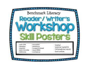 Benchmark Literacy Readers Writers Workshop Skill Posters