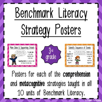 Benchmark Literacy Strategy Posters - grade 3