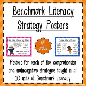 Benchmark Literacy Strategy Posters - grade 4