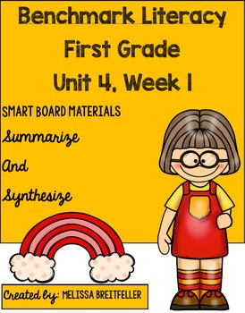 Benchmark Literacy Unit 4 Week 1 First Grade