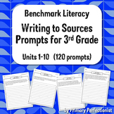 Benchmark Literacy Writing to Sources prompts - 3rd grade
