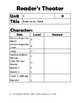 Benchmark Reader's Theater Casting Guide Unit 1 3rd Grade