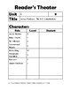 Benchmark Reader's Theater Casting Guide Unit 1 5th Grade