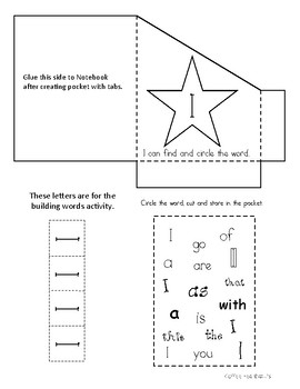 Benchmark Sight Words Kindergarten