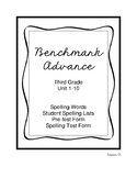 Benchmark Spelling Lists Grade 3