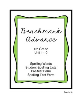 Benchmark Spelling Lists Grade 4