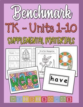 Benchmark TK Units 1-10 BUNDLE - Supplemental Materials