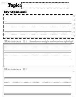 Benchmark Advanced Unit 8 Opinion Process Writing Packet
