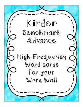 Benchmark Word Wall Cards Sample
