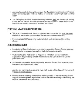 Benchmark Writing- Assessing Student Capability in Grades 3 and 4