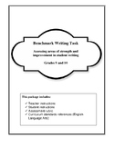 Benchmark Writing- Assessing Student Capability in grades 9 and 10