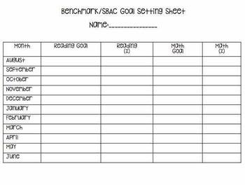 Benchmark Testing Record Sheet *Editable FREEBIE*