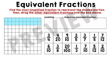 Benchmarks, Equivalent Fractions, and Area Models