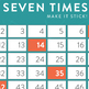 Bendy Brains Seven Times Table Number Sense (in Scouty McGee Green)