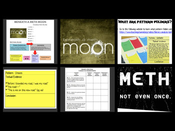 Beneath A Meth Moon Intro PP, Discussion Guide, Pattern Folder Activity, CC Test