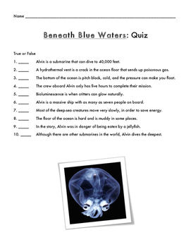 Beneath Blue Waters Assessment