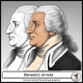 Benedict Arnold Realistic Clip Art Portrait