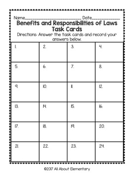 Benefits and Responsibilities of Laws