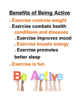 Benefits of Being Active Poster