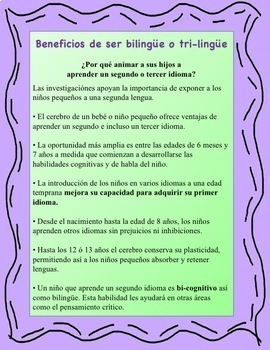 Benefits of a Being Bilingual Child