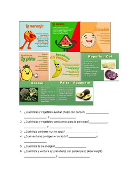 Benefits of Fruits and Vegetables reading