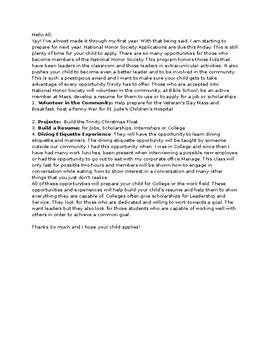 Benefits of National Honor Society