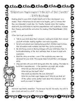 Benefits of Reading Aloud to Children