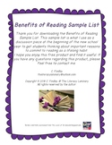 Benefits of Reading Sample List