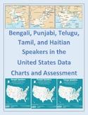 Bengali, Punjabi, Tamil, Telugu, and Haitian Speakers Data Maps and Assessment