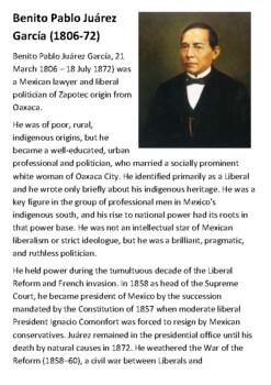 Benito Juárez Handout