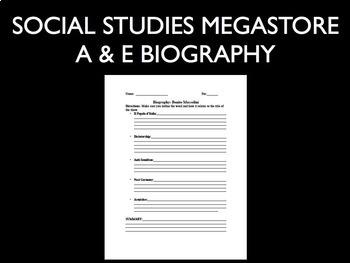 Benito Mussolini A and E Biography