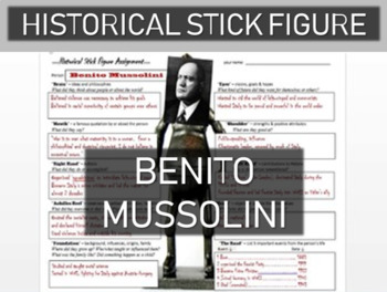 Benito Mussolini Historical Stick Figure (Mini-biography)
