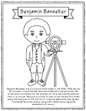 Benjamin Banneker Biography Coloring Page Craft or Poster, African American